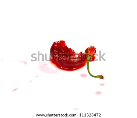 Sweet ripe cherry isolated on a white background