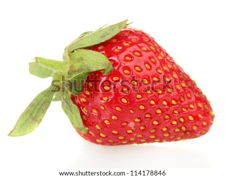 sweet ripe strawberry isolated on white