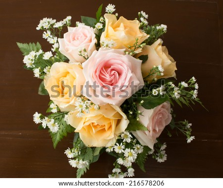 sweet rose bouquet - stock photo