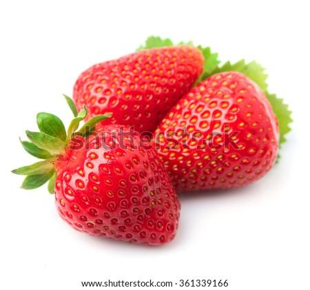 Sweet strawberry on white background - stock photo