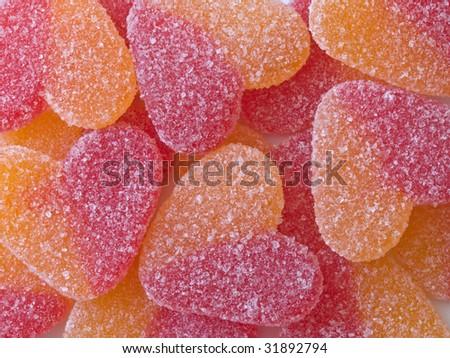 sweet sugar hearts - stock photo