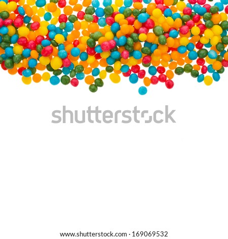 sweet sugar spreading pastry caramel different colors decoration  isolated on white background - stock photo