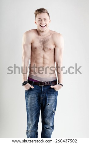 sweet young man - stock photo