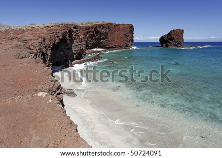 Sweetheart Rock (Puuphehe) - Island of Lanai, Hawaii
