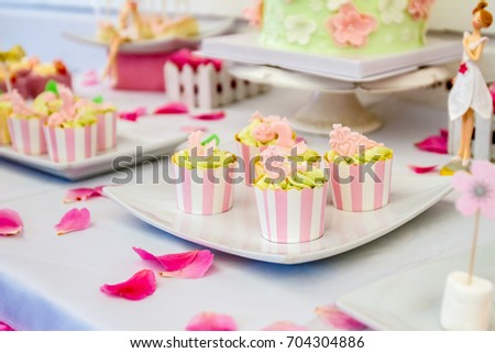 sweets and desserts, table decorated for a party, catering services