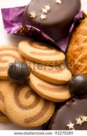 Sweets on a white background - stock photo