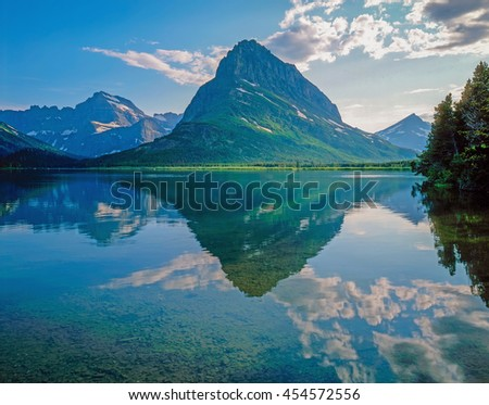 Swift Current Lake in Glacier National Park, Montana