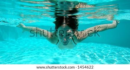 Swimming 2 - stock photo