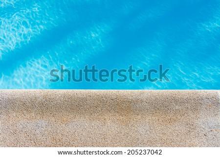swimming pool background - stock photo