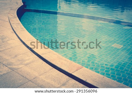 Swimming pool ( Filtered image processed vintage effect. ) - stock photo