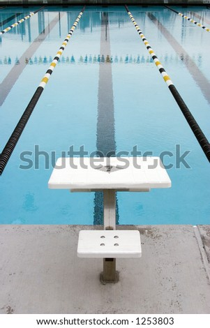 swimming pool for competitions - stock photo
