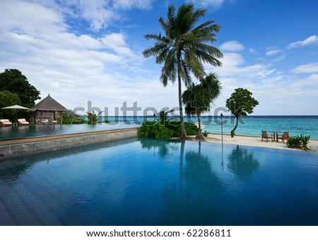 swimming pool in beach resorts