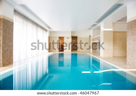 Swimming pool in Inside the house