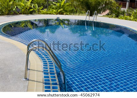 Swimming pool in Thailand. - stock photo