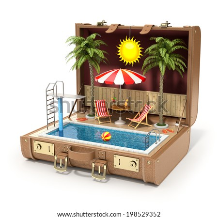 Swimming pool in the case - stock photo