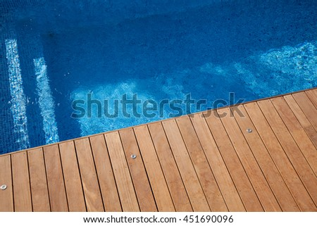 Swimming pool in the south of France  - stock photo