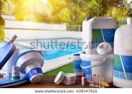 Chemical stock images royalty free images vectors shutterstock for Swimming pool cleaning chemicals list