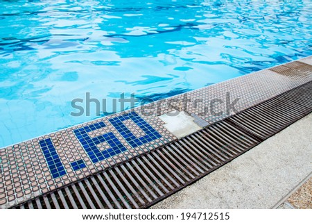 Swimming Pool Side Drain Cracked Tiles Stock Photo Royalty Free 194712515 Shutterstock