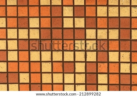 Swimming pool texture background. Orange color