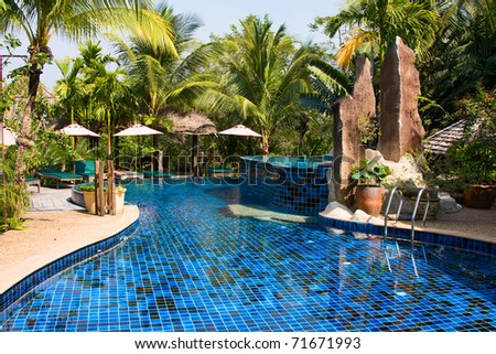 Swimming pool , Thailand - stock photo