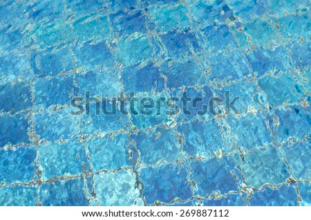 Swimming pool water. Aqua texture - stock photo