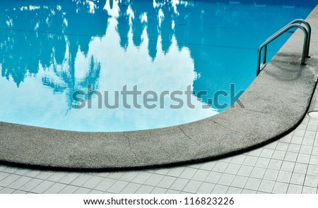 Swimming pool with steel bar - stock photo