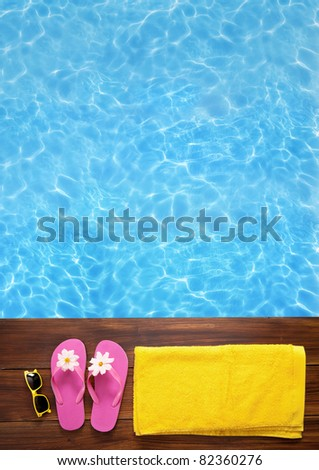 Swimming time - stock photo