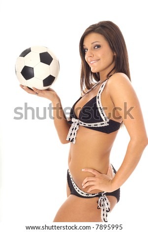 swimsuit soccer latino model