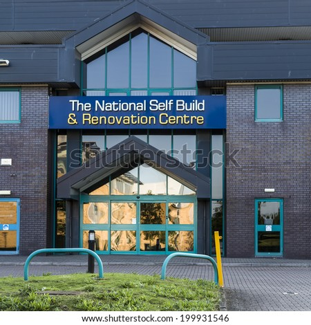 SWINDON, UK - JUNE 14, 2014: National Self Build And Renovation Centre in Swindon Wiltshire