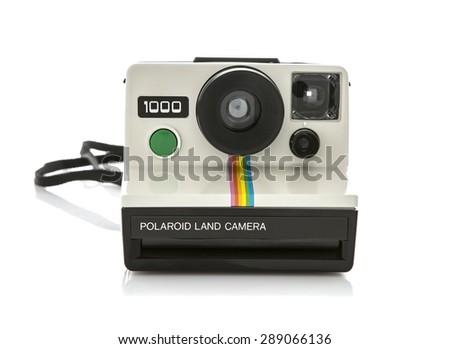 SWINDON, UK - JUNE 21, 2015: Polaroid 1000 Land Camera - stock photo