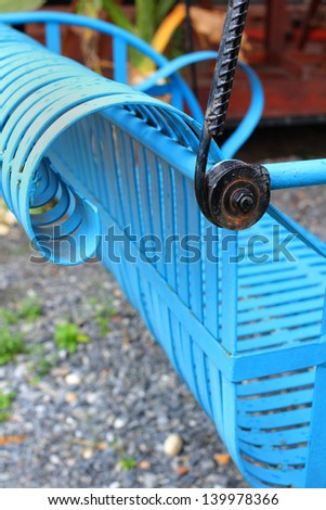 Swing chair - stock photo