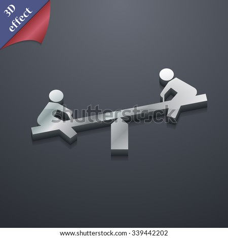 swing icon symbol. 3D style. Trendy, modern design with space for your text illustration. Rastrized copy - stock photo