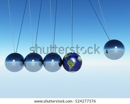 Swing of the pendulum.earth   3D Render  Some elements provided courtesy of NASA