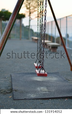 Swing seat - stock photo