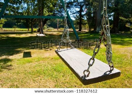 Swing set - stock photo