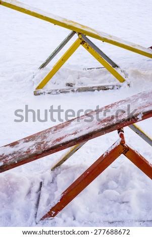 swing winter - stock photo