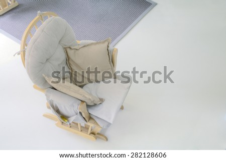 Swinging Chair Top View Copy Space - stock photo
