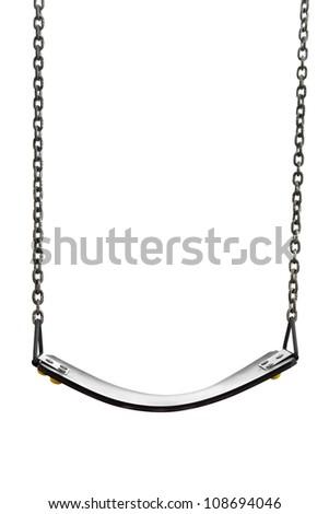 swinging isolated on a white background - stock photo