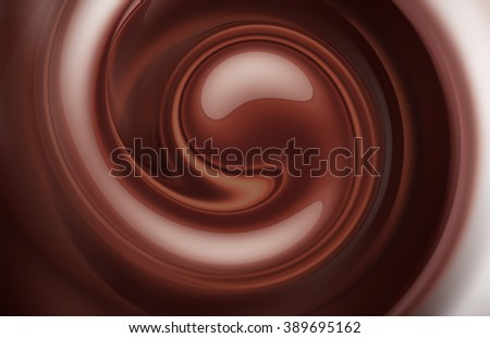 swirl of coffee and milk as background full screen - stock photo