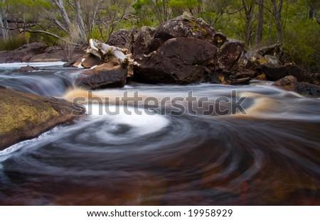Swirling water - stock photo
