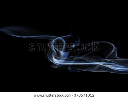 Swirls of Blue Smoke on a Black Background