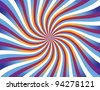 Swirly Waves Background Bitmap Illustration - stock vector