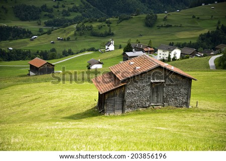 Swiss Alps, Switzerland - stock photo