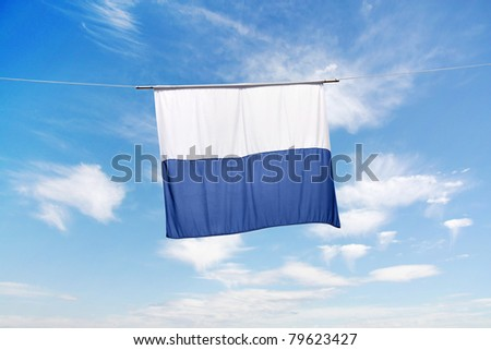 Swiss Canton Flag Series 27: Lucerne - stock photo