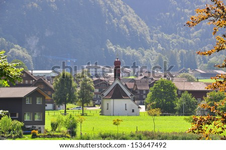 Swiss church in Alps, Lungern