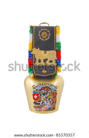 Swiss cow bell - stock photo