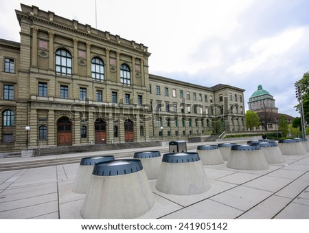 Swiss Federal Institute of Technology main building in Zurich  - stock photo