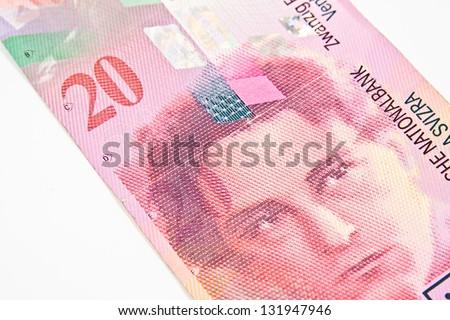 Swiss Francs banknotes - stock photo