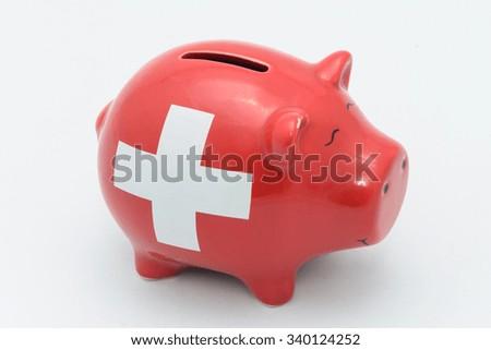 Swiss piggy bank - stock photo
