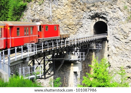 Swiss railway. Switzerland.